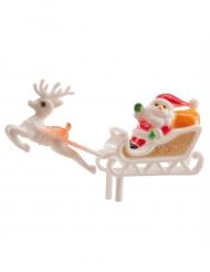 Figurine Père Noël et son traineau 6 cm