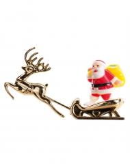 Figurine Le traîneau du Père Noël doré 8,5 cm
