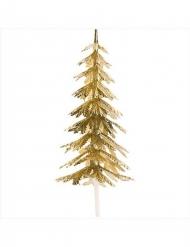 Décoration pique Sapin de Noël doré 9 cm