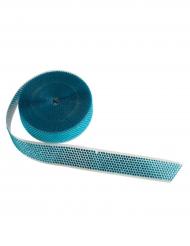 Décoration gâteau bande avec strass bleu 3,5 cm x 10 m