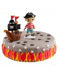 Kit de décorations gâteaux Pirate 8,5 cm