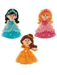3 Figurines en sucre Princesses 5,5 cm