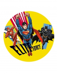Disque en sucre Justice League™ 20 cm