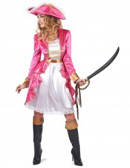 Déguisement pirate baroque rose femme