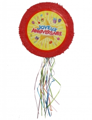 Piñata classique Joyeux Anniversaire 50 cm