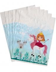 6 Sacs cadeaux Princesse 15 x 23 cm