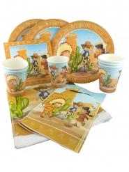 Kit d'anniversaire Cowboy et Indien - 25 pièces