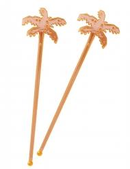 15 Agitateurs de cocktail Palmier 5 x 18 cm