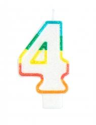 Bougie d'anniversaire chiffre 4 7,5 cm