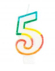 Bougie d'anniversaire chiffre 5 7,5 cm