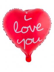 Ballon aluminium coeur rouge I love you 52 x 46 cm