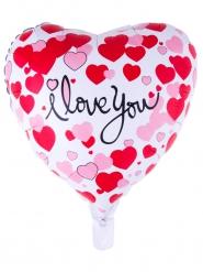 Ballon aluminium coeur I love you 52 x 46 cm
