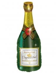 Ballon aluminium bouteille de champagne 50 x 100 cm