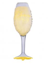 Ballon aluminium verre de champagne 46 x 105 cm