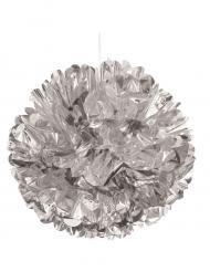 Boule décorative argentée 40 cm