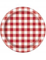 8 Assiettes Pique-nique en carton 23 cm