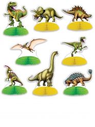 8 Mini centres de table Dinosaures