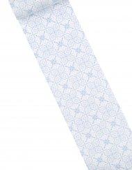 Sur chemin de table motif azulejos sur toile jade 15 cm x 5 m