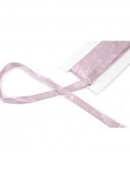 Ruban en satin avec cœur pailleté rose 10 mm x 4 m