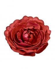 Décoration de table Rose ancienne rouge 12 cm