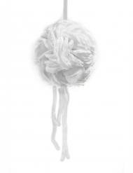 Suspension boule de pétales de rose avec rubans blanc 16 cm