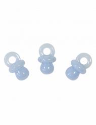 10 Décorations de table motif Tétine bleue 2 cm