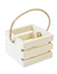Cagette en bois avec anse 5,5 x 5,5 x 4 cm