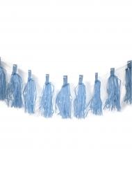 Guirlande de 20 tassels bleu 4 m