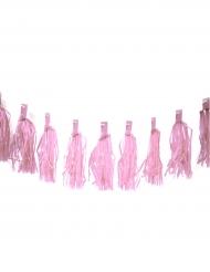 Guirlande de 20 tassels rose 4 m