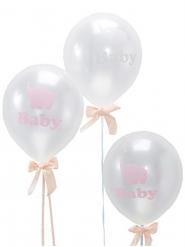 10 Ballons transparents Petit Elephant 22 cm