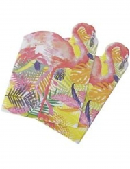 20 Serviettes en papier en forme de Flamant rose 33 cm