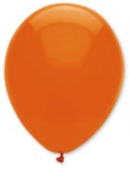 6 Ballons orange foncé 30 cm