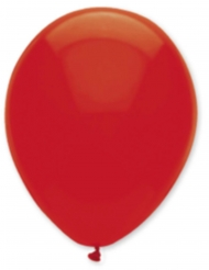 6 Ballons rouge rubis 30 cm