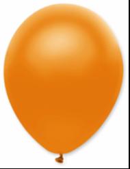 50 Ballons métallique orange 30 cm