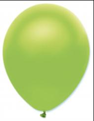 50 Ballons métallisés vert citron 30 cm
