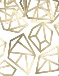 Confettis de table Diamant origami doré métallisé 8,8 cm
