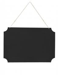 Ardoise à suspendre noire avec 2 craies rouges et blanches 45 x 30 cm