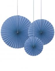 3 Rosaces décoratives bleue 40, 32 et 23 cm