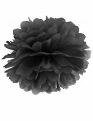 Pompon à suspendre en papier noir 25 cm