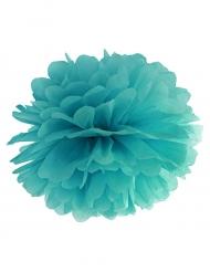 Pompon à suspendre en papier vert d'eau 25 cm