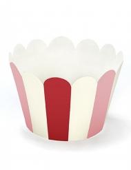 6 Moules à cupcake en carton 5 x 7,5 x 5 cm