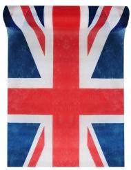 Chemin de table en tissu Angleterre tricolore 5 m