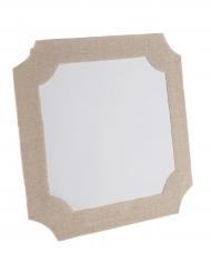 Marque-table en papier et coton en forme de Cadre 16 x 16 cm