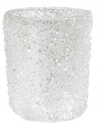 Photophore scintillant blanc 5,5 x 6,7 cm