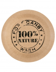 10 Assiettes en carton 100% Nature kraft 22,5 cm