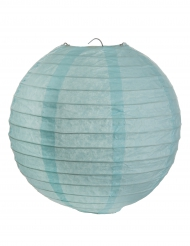 2 Lanternes à suspendre bleu clair 20 cm