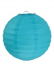 2 Lanternes à suspendre turquoise 20 cm