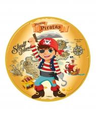 Disque en sucre Pirate 16 cm