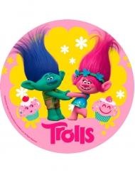 Disque azyme anniversaire Trolls™ 20 cm