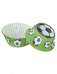 50 Moules à cupcake Football 5 cm